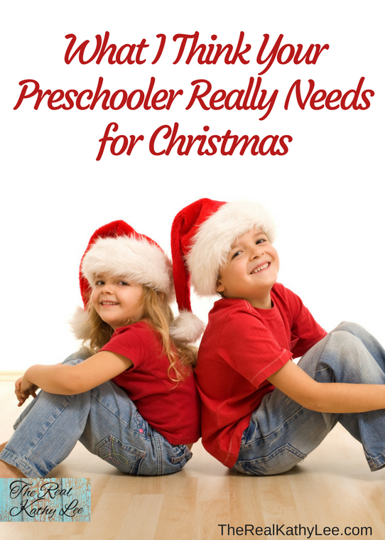 What I Think Your Preschooler Really Needs for Christmas