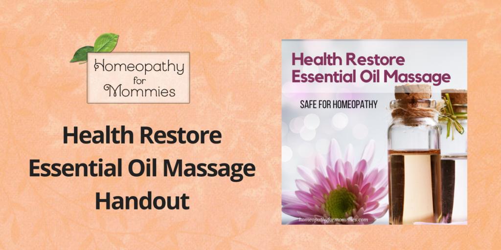 Health Restore Massage Handout