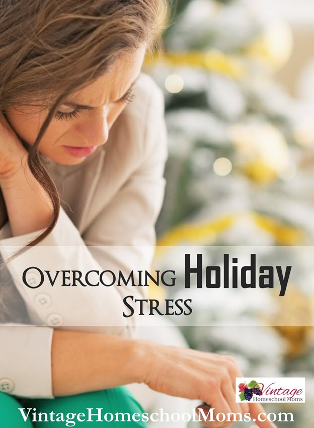 overcome holiday stress | Overcome Holiday Stress? Who are you kidding? The holidays are meant to be stressful, disorganized overspending and gluttonous. #Homeschool #homeschooling #podcast #holidaystress