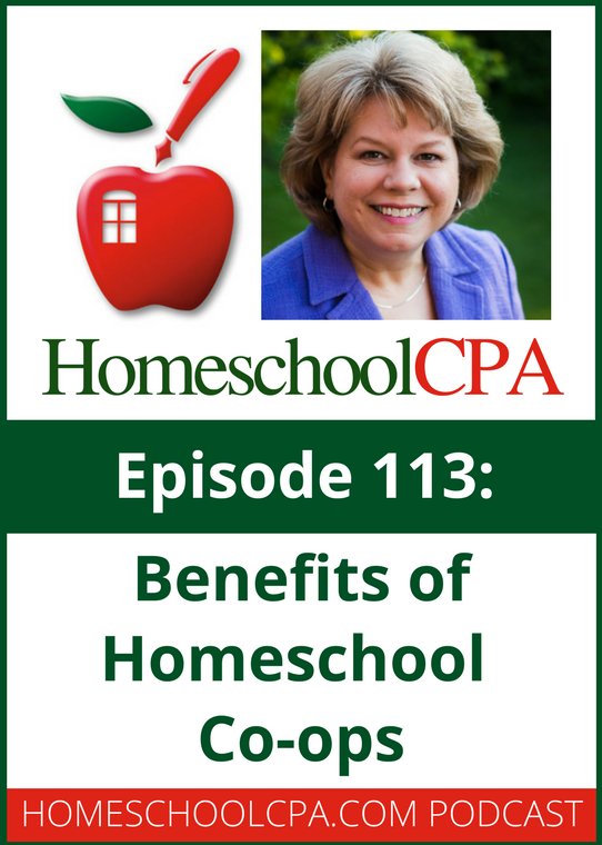 Benefits of homeschool co-ops with the Homeschool CPA, Carol Topp.