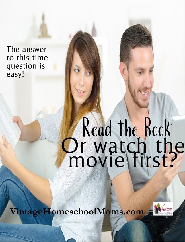 read the book or watch the movie first |Read the book or watch the movie first? The difference of opinion can be surprising. Depending on the book or the movie the answers can vary. #Homeschool #homeschooling #podcast #BooksMovie