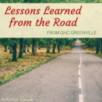 Lessons Learned from the Road – GHC Greenville Conference