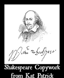 Shakespeare Copywork from Kat Patrick 7SistersHomeschool.com