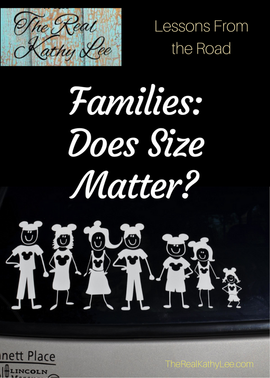 Families: Does Size Matter? Lessons From the Road with The Real Kathy Lee