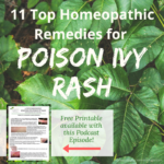 Homeopathic Remedies for Poison Ivy Outbreaks