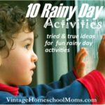 Summertime Rainy Day Activities