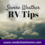severe weather in the rv
