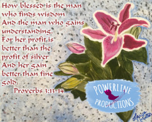 Proverbs 3:13-14 by Laura Nolette and Powerline Productions, Inc.