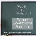 Weekly Homeschool Schedule | Your weekly homeschool schedule is perhaps one of the most important aspects of an easy flowing and on track homeschool year. #homeschool # #homeschoolschedule