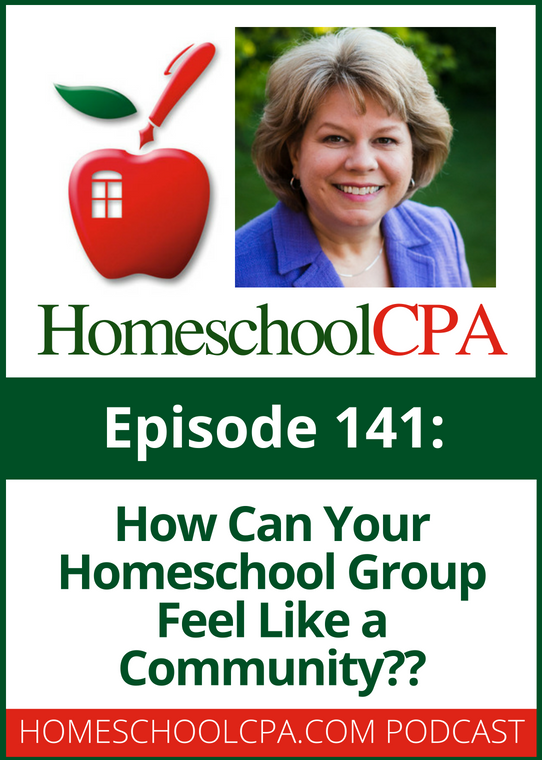One of the best things about being in a homeschool group is the community of support you can receive. But do you know how to build a sense of community? Click to find out more from Carol Topp, CPA. #homeschool #co-op