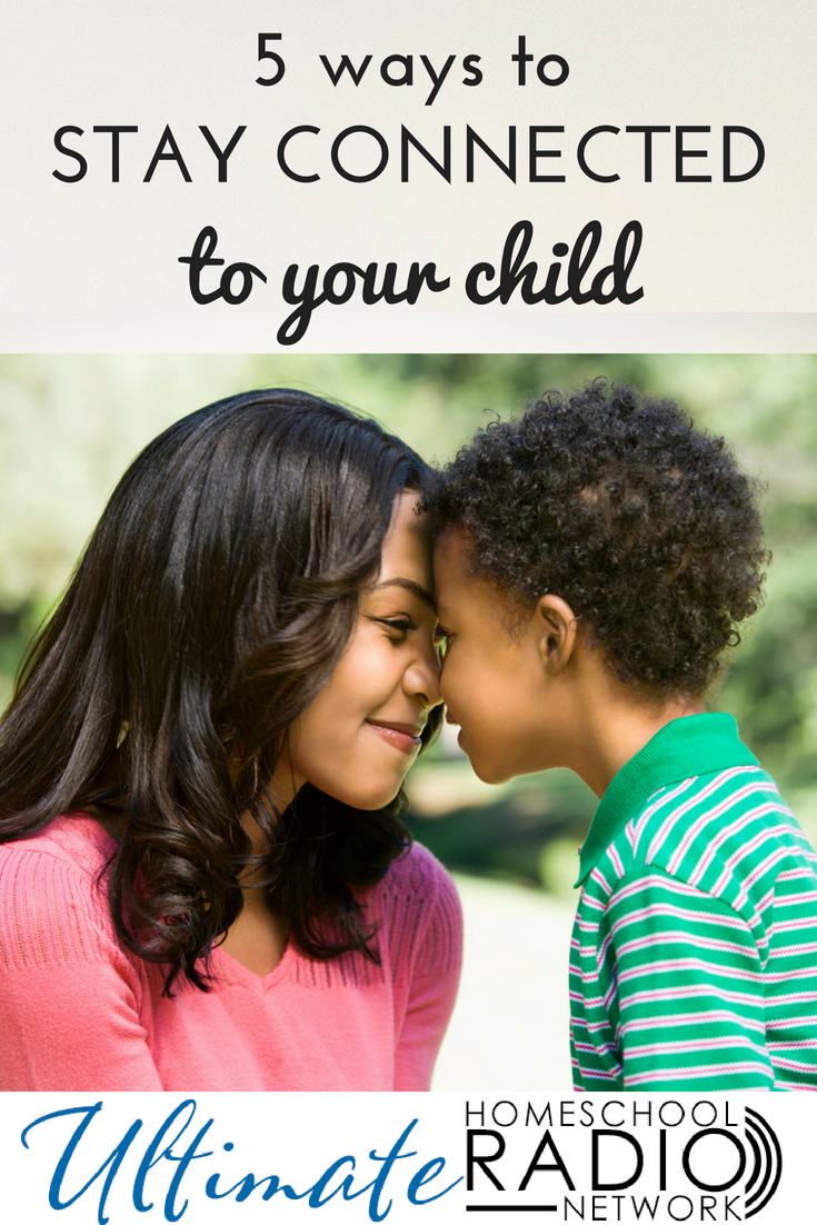 Do you desire a closer relationship with your child? In this podcast, we'll discuss five ways to stay connected even when life gets busy and stressful. #Christianparenting