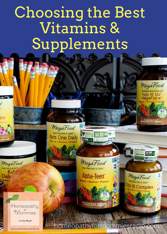 Due to popular request, Sue Meyer ND CCH shares the results of the extensive research she did on vitamins and supplements to determine which to carry in her store. Click to Listen! #vitamins #homeopathy #immunity #health #wellness