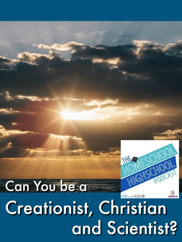 HSHSP Ep 129: Can You be a Creationist, Christian and Scientist? #HomeschoolHighSchoolPodcast #Creationism #TeachingCreationism #CreationismAndScientists This photo shows a sunrise through clouds over the ocean, leading the viewer to think of creation.