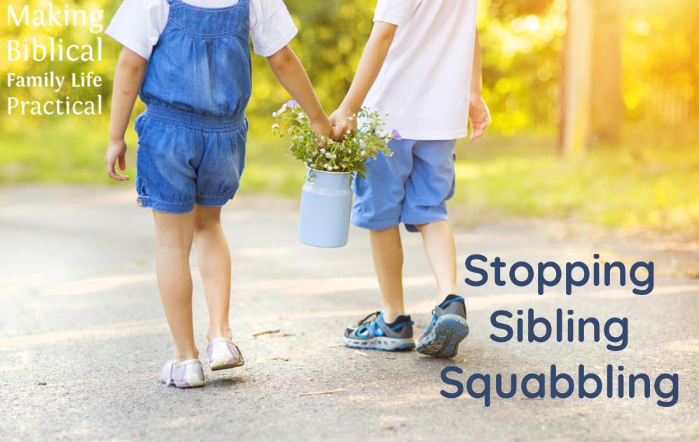 Stopping Sibling Squabbling