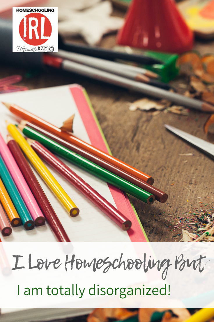 I Love Homeschooling But I am TOTALLY Disorganized! Get some tips from Fletch and Kendra on this episode of Homeschooling IRL. #homeschool #organization