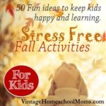 Stress Free Fall Activities for Kids