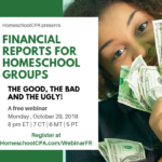 Are your Homeschool Group's Financial Reports Confusing? Webinar for you!