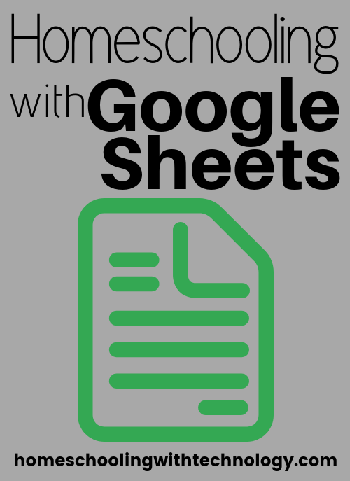 Homeschooling with Google Sheets