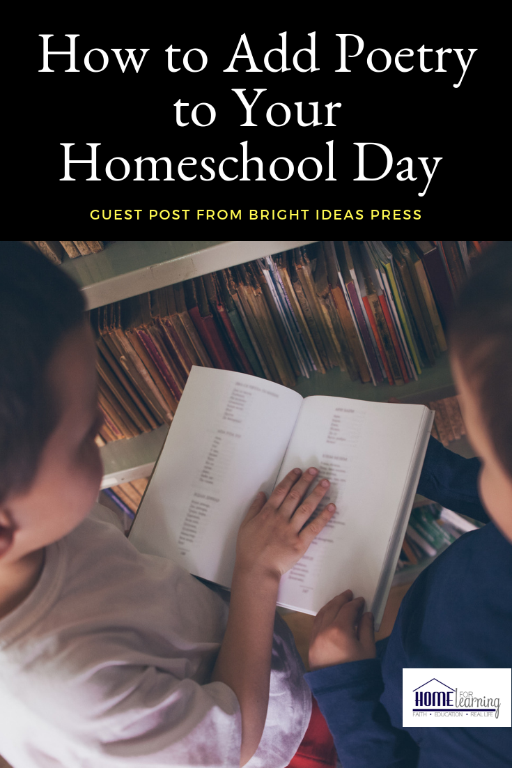 How to Add Poetry to Your Homeschool Day with Bright Ideas Press - and a fun giveaway!  #giveaway #homeschool #poetry