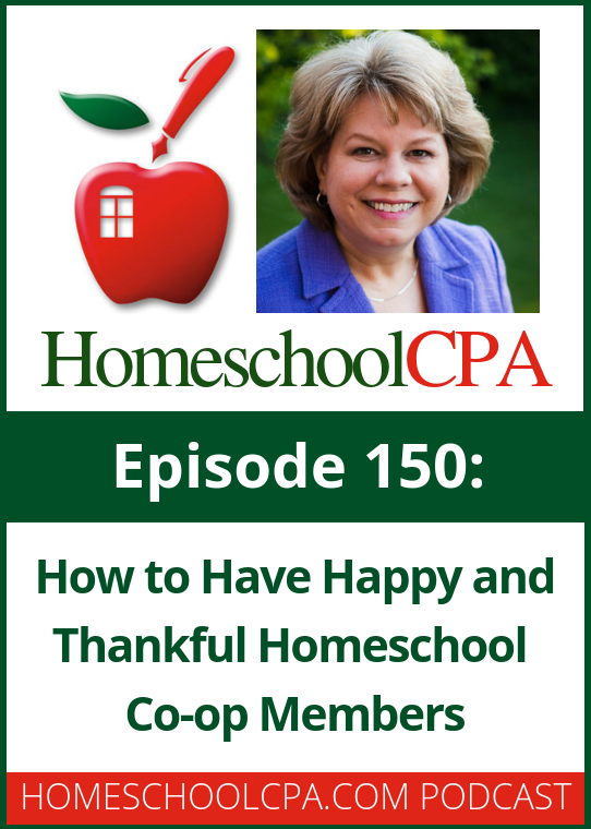 Are your homeschool co-op members happy and thankful? Or maybe they are complaining to you. Can that be changed? #homeschool #podcast