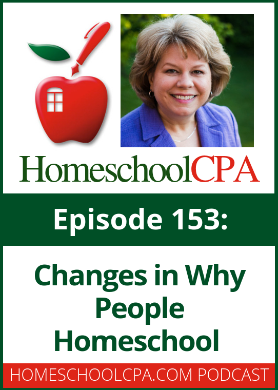 Homeschool leader Melissa Robb has noticed that the reason people homeschool has changed. Do you notice a difference in your area, too?
