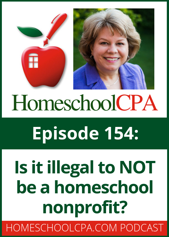 Carol Topp, the HomeschoolCPA was recently asked if a homeschool co-op had to be a nonprofit? Tune in as Carol Topp answer this question.