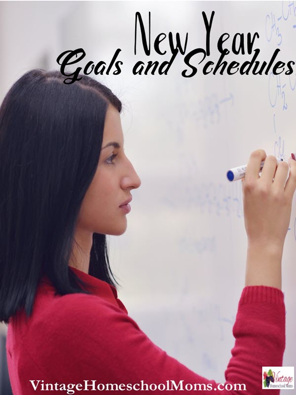 New Year Goals and Schedules | New Year goals and resolutions are easy to make but not easy to keep. So many times we make our schedules without any wiggle room and the new year is the best time to look at our schedules and realign them with our newly made goals. No goals or resolutions, yet? | #podcasts #homeschoolpodcast #homeschool