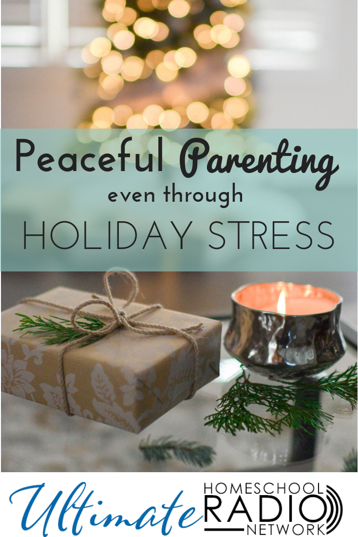 4 Practical tips for peaceful parenting even through holiday stress. #Christmas #parenting
