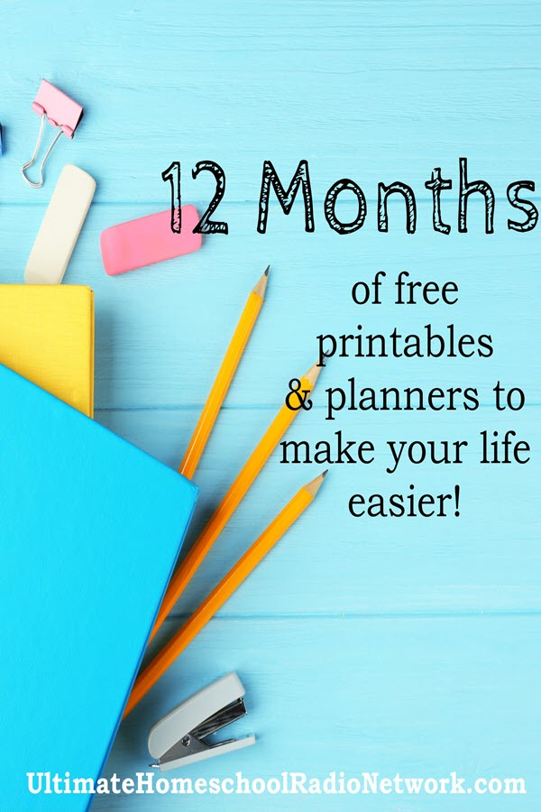12 Months of Printables such as: Making memories with kids, new beginnings, reach for the stars, fall blessings and so many more! Sign up today to get yours. Limited Offer. #planner #free #homeschool