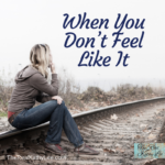 How do you handle things, when you don't feel well, or you are down? In this week's episode, I suggested steps to take when you find yourself feeling low.