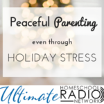 Peaceful parenting through holiday stress