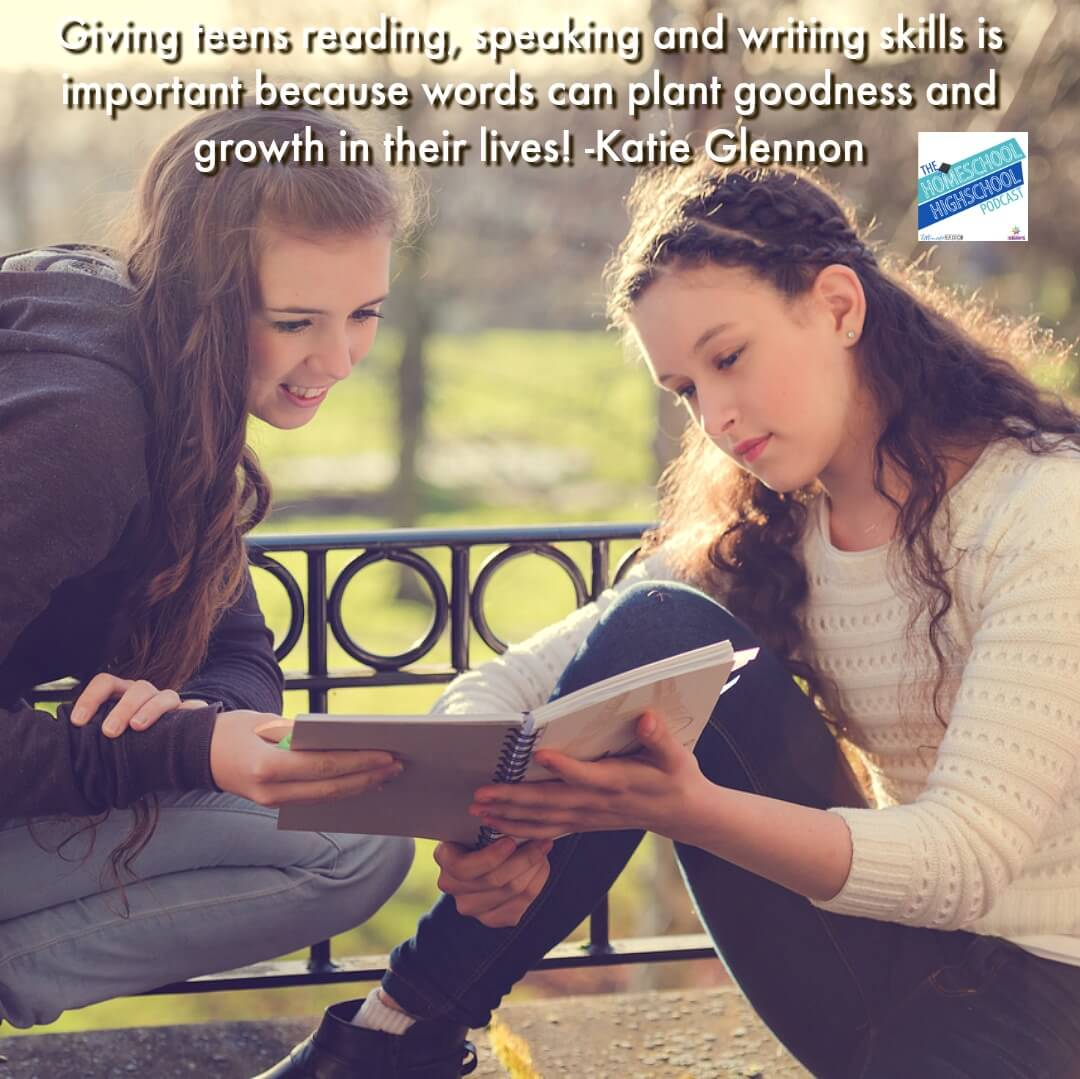 Giving teens reading, speaking and writing skills is important because words can plant goodness and growth in their lives!