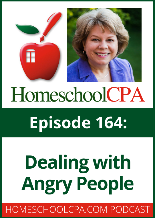 Sometimes homeschool leaders must deal with angry members. Join Carol Topp this week as she talks with a homeschool leader about dealing with angry people. #podcast #homeschool