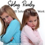 Sibling Rivalry | If you have more one child you have experienced sibling rivalry. One or more of the children feels slighted in some way. | #podcast #homeschoolpodcast