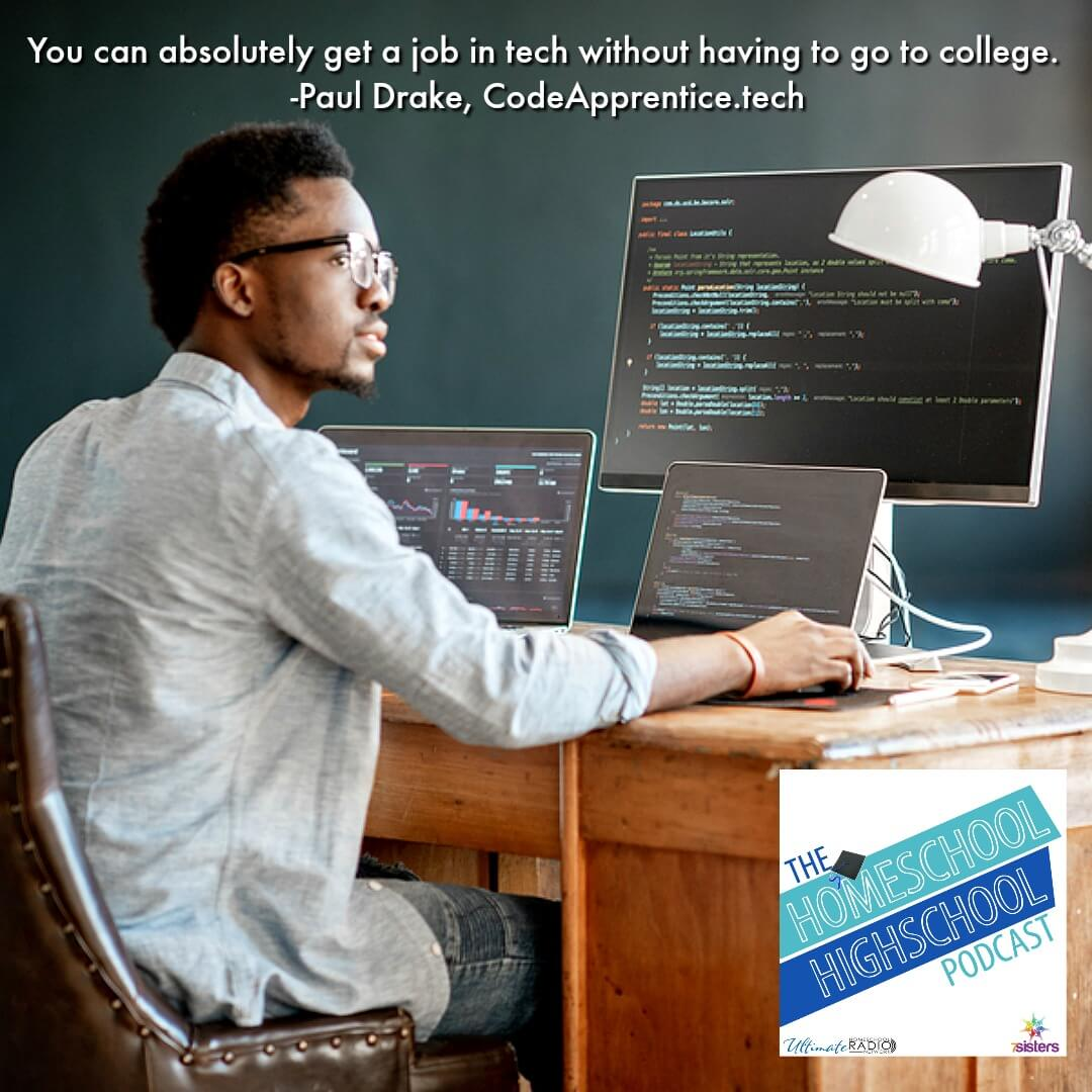 You absolutely can get a job in tech without going to college and getting a degree. Paul Drake of Code Apprentice tells how to develop employable coding skills.