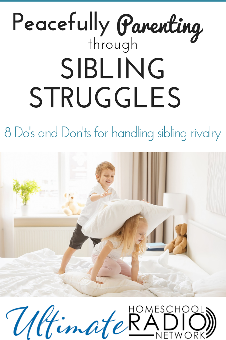 If your kids are arguing, fighting, or struggling with sibling rivalry, here are 8 do's and don'ts for peacefully parenting through it all.