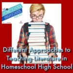 Different approaches to teaching literature in homeschool high school.