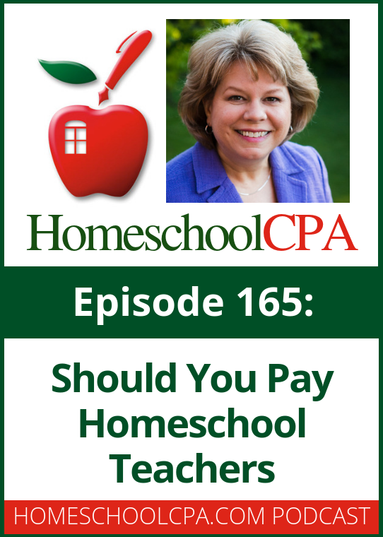 Should you pay homeschool teachers?  This podcast will give you something to think about and consider for your homeschool program.