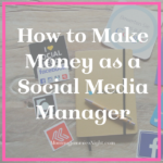 How to Make Money as a Social Manager Manager
