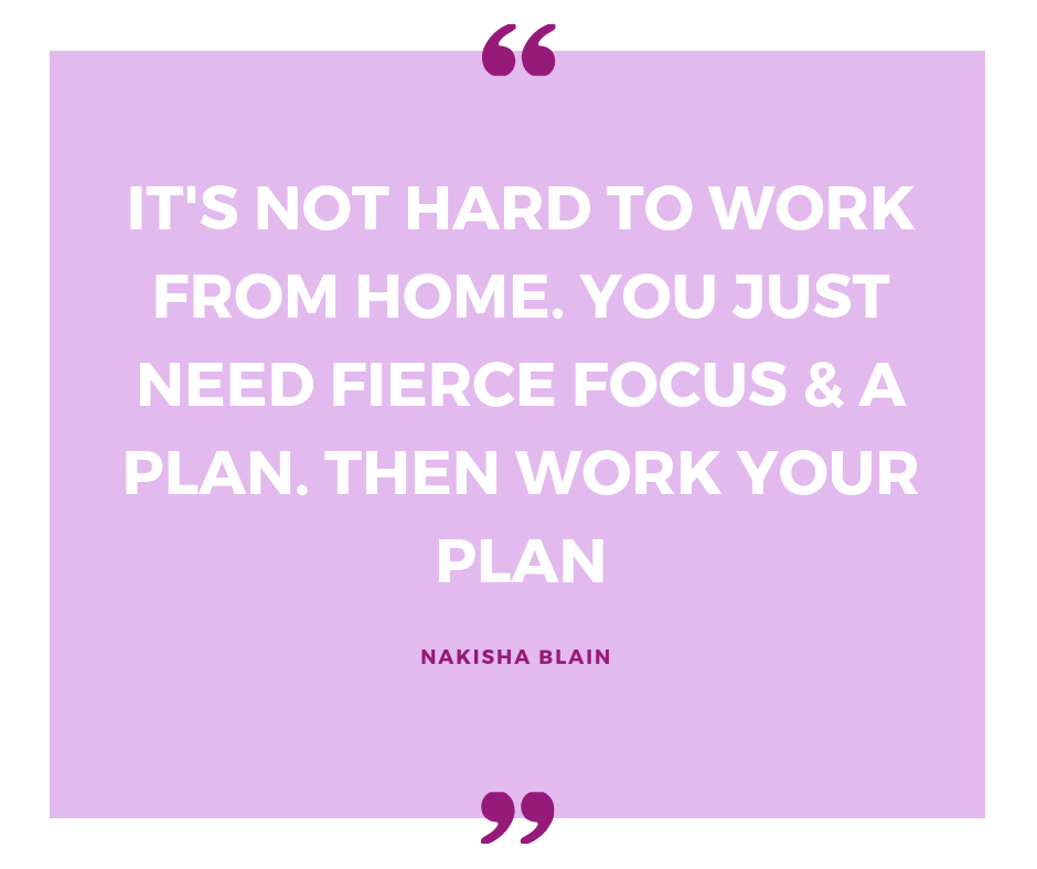 Learn to work your plan for success.