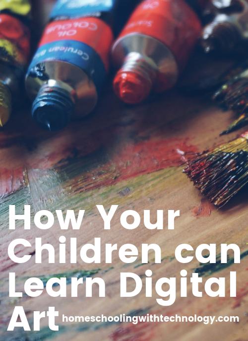 How your children can learn digital art #digitalartlessons #homeschoolart #digitalartapps