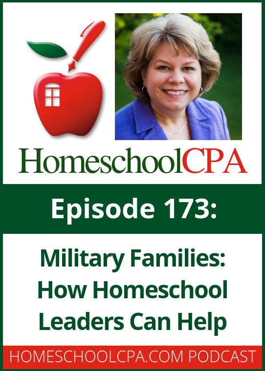 Learn how homeschool leaders can help military families connect in this podcast from the Homeschool CPA. #homeschool