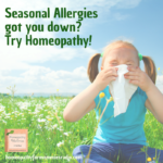 Homeopathy can help alleviate the effects of seasonal allergies - find out how on this week's podcast with Sue Meyer at Homeopathy for Mommies. #podcast #homeopathy