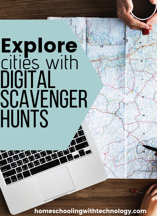 Digital Scavenger Hunts #familyfun #vacationfun #homeschooltravel
