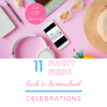 Rock your back to homeschool celebrations with these 11 funky fresh ideas and a $250 giveaway | Ultimate Homeschool Radio Network #homeschool #homeschooling #backtoschool #podcast