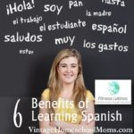 Learning Spanish | With a passion for speaking Spanish, and experience as a homeschool mom, Alba Alonso shares the benefits of learning Spanish. You will be surprised at the innovation she uses and she explains more of this in this episode! | #podcasat #homeschoolpodcast #fitnesslatinos