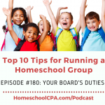 Top 10 Tips for Homeschool Leaders: Board  Duties