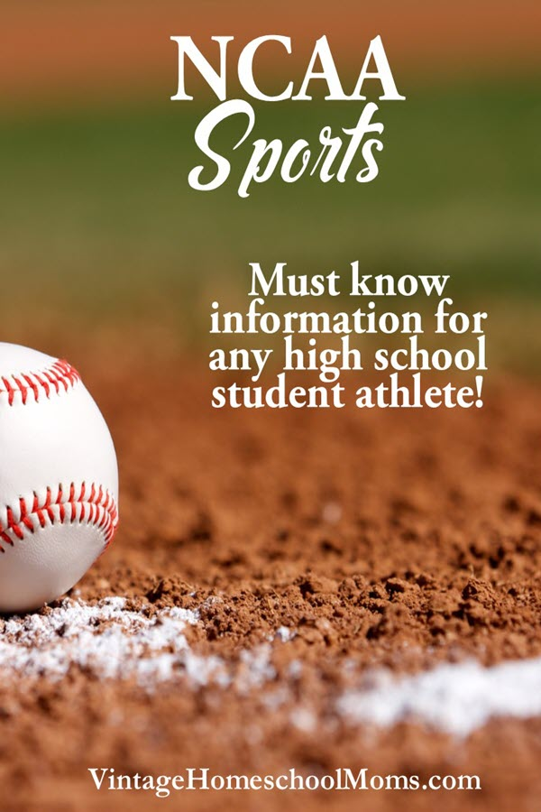 NCAA Sports | Do you have a star athlete in the family? Anyone who wants to play high school or college sports must become familiar with the NCAA Sports Website! In this podcast, we discuss the right way to do this and what you need to do now, especially if you are a homeschool parent. | #podcast #ncaa #ncaasports #highschoolatheletes #homeschoolpodcast