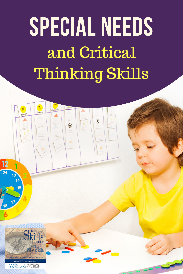 In this Podcast, we'll continue our discussion of Critical Thinking Skills as I interview Amy Vickrey, Director of Special Needs Department at True North Homeschool Academy. We'll be talking about how to help kids develop time and self-management techniques, talk about Meta-Cognition and so much more!