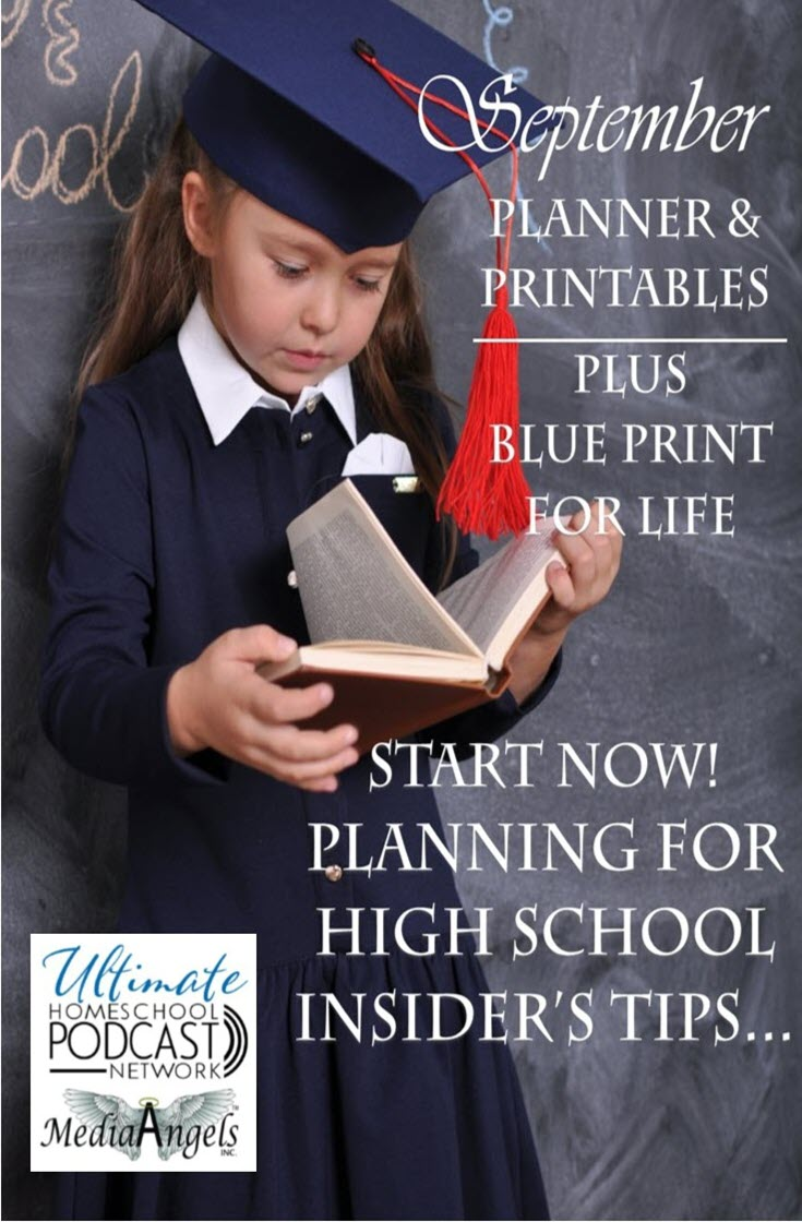 FREE High School Planner and Blue Print for Life with teaching tips for highschool. #homeschoolhighschool #homeforlearning